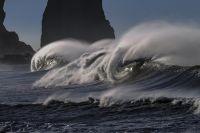 olas y temporal en el mar