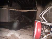 garaje quemado y ventilador de extracción de aire
